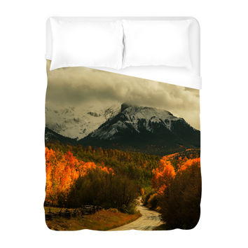 Harvest in the Colorado Mountains Duvet Cover