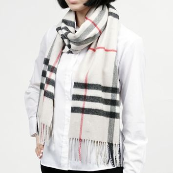 New Authentic BURBERRY Scarf 3954673-stone Women's