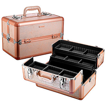 "SEPHORA COLLECTION Rose Gold Traincase (14""w x 8.65""d x 9.25""h Rose Gold)"