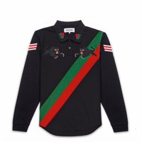 L/S Panther Rugby - Black
