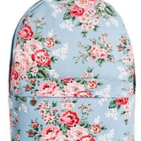 Red Rose Print Backpack - OASAP.com