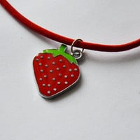 Red Strawberry Choker