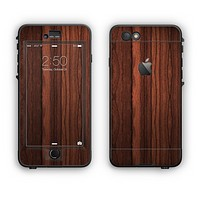The Dark Heavy WoodGrain Apple iPhone 6 Plus LifeProof Nuud Case Skin Set