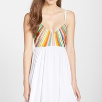 Women's Mara Hoffman Embroidered Tie Back Dress,