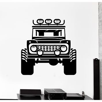 Wall Decal Jeep Car Rover Garage Decor For Man Vinyl Sticker (ed1436)