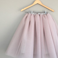 Two toned tulle skirt-extra full adult tutu with lining