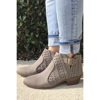 Fall For Me Booties- Taupe