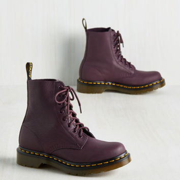 March Through Manhattan Boot in Plum