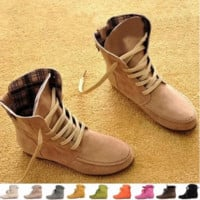 Autumn and Winter Boots Snow Boots for Women and Men Martin Boots Genuine Leather Boots Couples Shoes