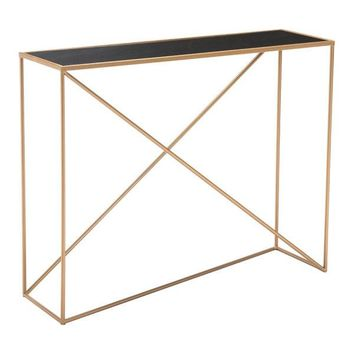 A11545 Sixty Console Table Black & Gold
