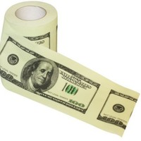 Money Toilet Roll - Dollar Bill Toilet Paper:Amazon:Toys & Games
