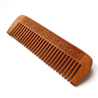 Wooden hair comb, Wood carving, Head scalp massage, Eco friendly, Anti static, Natural hair accessory, Handmade, MariyaArts