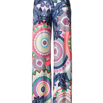 Palazzo Pants - J USA Unique Circle Print Pants