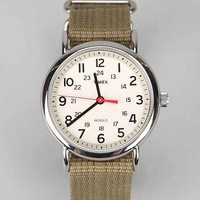 Timex Weekender Slip-Thru Band Watch- Khaki One