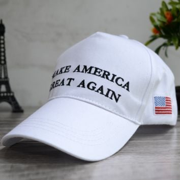 American Flag Make America Great Again Embroidered Baseball Cap Hat for Summer