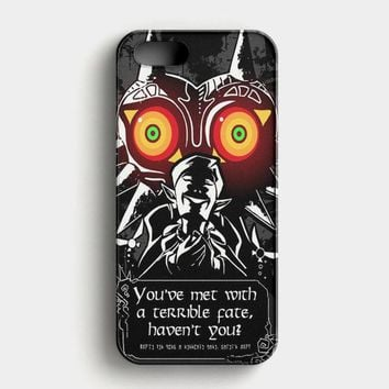 Legend Of Zelda Majora Mask iPhone SE Case