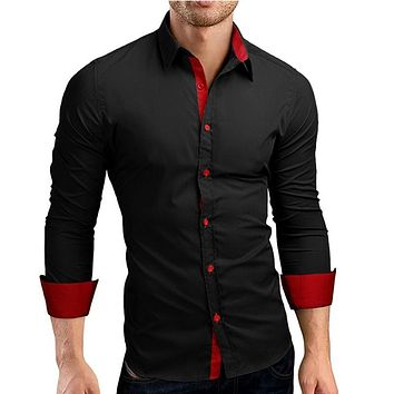 Casual Hit Color Slim Fit shirt