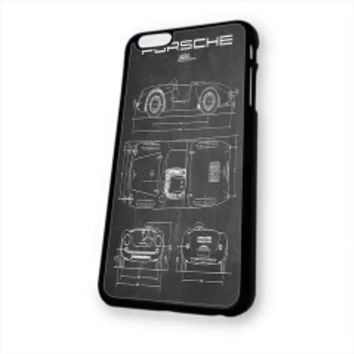 PORSCHE 550 SPYDER DIAGRAM VINTAGE for iphone 6 case