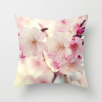 cotton candy flowers Throw Pillow by Sylvia Cook Photography | Society6