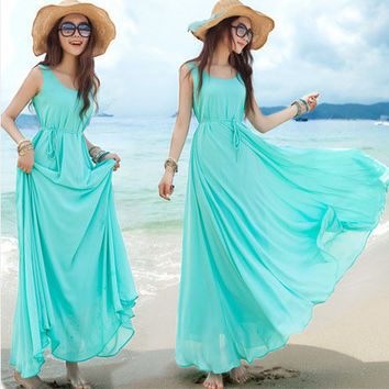 Dmart7dealBohemian Style Maternity Dresses Nursing Clothes for Pregnant Women Black Beach Chiffon Summer Dress Pregnant Clothing