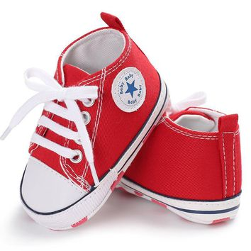 New Canvas Converse Baby Sneaker Sport Shoes For Girls Boys Newborn First  Walkers Infant Toddler Soft 208de2675e86