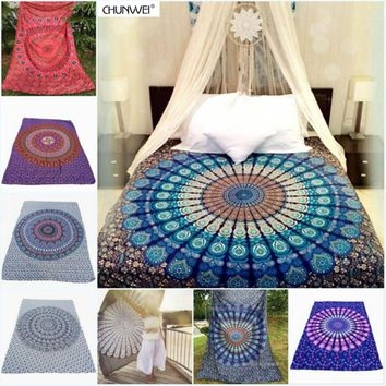 7 Types Portable Beach Towel India Mandala Wall Hanging Bed Manta Yoga Mat Blanket Camping Mattress Sleeping Pad Tapestry
