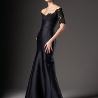 REDUX CHARLES CHANG- LIMA - Lace-Sleeve Gown - Bergdorf Goodman