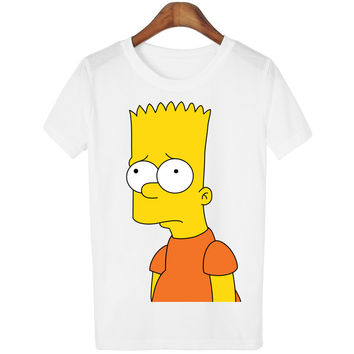 Dmart7deal Cartoon Design T-shirts The Simpson T Shirts Women Plus Size  Tees camisetas mujer Blusas WMT98