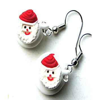 Santa Cup Dangle Earrings