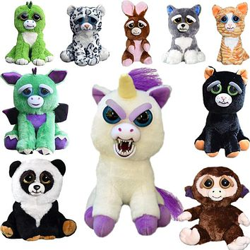 Expression Stuffed Animal Doll Feisty Pets Change Face Plush Toys Funny Toys For Children Cute Prank Toy Christmas Gift