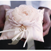 Ring Pillow. Light Pink Wedding Pillow