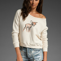 Disney by PATTERSON J. KINCAID Baby Bambi Haywood Pullover in Oatmeal at Revolve Clothing - Free Shipping!