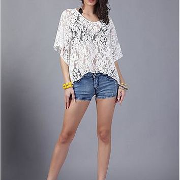 [9.99] In Stock Sexy Sheer Lace Women's Tops - dressilyme.com