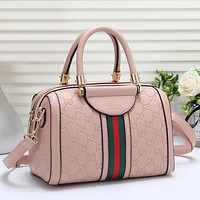 GUCCI Women Fashion Leather Tote Crossbody Satchel Shoulder Bag