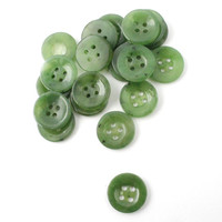 "Canadian Nephrite Jade Button, 14.5mm - 10% off - Promo Code ""SUMMER17"""
