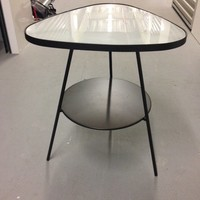 IKEA Side Table, glass and metal