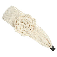 Crochet Flower Headwrap | Shop Accessories at Wet Seal