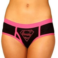 DC Comics Supergirl Black Juniors Underwear Boy Brief Panty - Superman - | TV Store Online