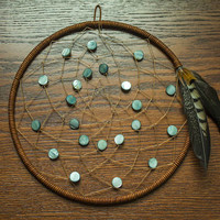 Blue Shell Dream Catcher