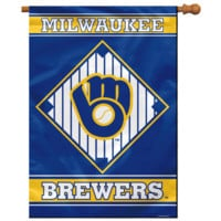 "MLB Milwaukee Brewers House Banner 28"" x 40"""
