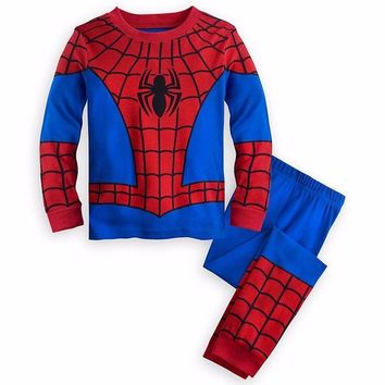 2Pcs Kids Boys Girls Captain America Clothes Set Outfit Children Kid Spiderman T-shirt+pants Tracksuit Pajamas Pjs Clothes 19