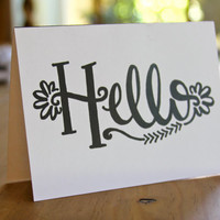 Hello Happiness - Hand-drawn Stationery (set of 5) that sends the Ultimate Happy Hello