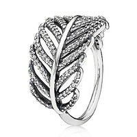 PANDORA Ring - Sterling Silver & Cubic Zirconia Light as a Feather | Bloomingdale's