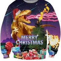 Santasaurus Rex Crewneck Sweatshirt *Ready to Ship*