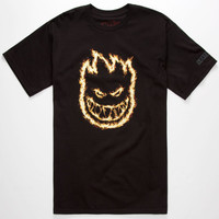 Spitfire Charred Remains Mens T-Shirt Black  In Sizes