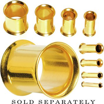 6 Gauge Gold Plated Double Flare Tunnel
