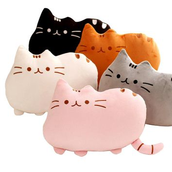 40*30cm Pusheen Cat Pillow With Zipper Only Skin Without PP Cotton Biscuits Kids Toys Big Cushion Cover Peluche Gifts WJ363