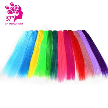 "Dream ice's Clip-in One Piece for Ombre Hair Extensions 16""40cm Pure Color Straight Long Synthetic Hair"