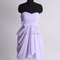 A-line empire waist chiffon bridesmaid dress