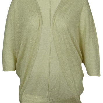 MADE for impulse Women's Dolman Sleeve Cocoon Cardigan (XL, Natural Gold)